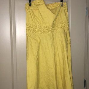 Dresses & Skirts - Mustard strapless dress